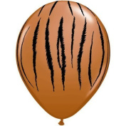 Tiger Orange and Black 28cm Latex Balloons Count of 25 by Thavornshop