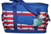 Tommy Bahama Insulated - Red, Blue & White Anchor Oversize Tote with Protective Rubber Feet by Tommy Bahama