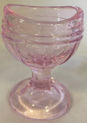 Eye Wash Bath Cup - Raised Rib Style - Pink Glass - American Made