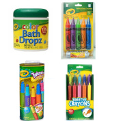 Crayola Bath Dropz, Bathtub Twistables, Bathtub Crayons and Bathtub Doodlers