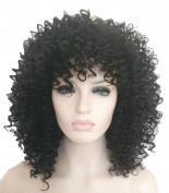 Female Black Wig Women Wigs Afroc-culry Small Roll Wig Explosion Africa