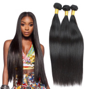 VIKI Hair 7A Grade Natural Colour Brazilian Virgin Hair Straight Weave 3 Bundles
