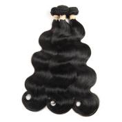 ALOT Hair 8A 100% Unprocessed Brazilian Vrgin Human Hair Soft Body Weave Natural Colour Weft , Package of 4Bundles , 100g/Bundle