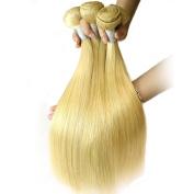 Maoyuan Beauty Hair Brazilian Virgin Hair Straight 3 Bundles Human Blonde Brazilian Hair Weaves 7a Grade Colour 613 Blonde Virgin Hair Can Mixed Lenght