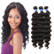 "ZS Hair 3pcs Deep Wave 100% Virgin Brazilian Hair Remy Human Hair Weft Weave Extensions 14""14""14"""