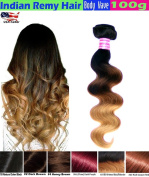 #1 Best Seller eCowboy BODY WAVE Indian Human Hair 6A Bundle Hair Weave Hair Extensions Weft 100 Human Hair Weave GUARANTEED Dip Dyed Ombre Three-Tone Colour #1B/#4/#30 - 60cm