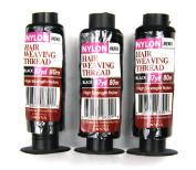 Crispy Premium Nylon Hair Weaving Thread Black 87 Yard (80M) High Strength Nylon
