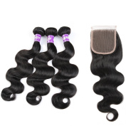 Brazilian Virgin Hair Closure Human Hair 8a Grade Virgin Unprocessed Human Hair Brazilian Body Wave Human Hair Bundle With Closure