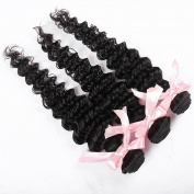 QLOVEHAIR Virgin Brazilian Deep Wave 3 Bundles Human Hair Extensions
