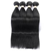 QLOVEHAIR 7a Brazilian Straight Hair Weaves Virgin Human Hair 4Bundles