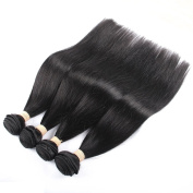 QLOVEHAIR 7a Malaysian Straight Hair 4 Bundles Virgin Unprocessed Human Hair Wefts Deal with Mixed Lengths