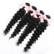 QLOVEHAIR Brazillian Deep Wave Virgin Hair 4Bundles Human Hair Weaving