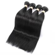 QLOVEHAIR Brazilian Virgin Straight Hair Unprocessed Human Hair Extension4 Bundles