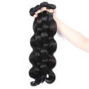 QLOVEHAIR Virgin Peruvian Hair Weaves Loose Wave 4Pcs Hair Extensions