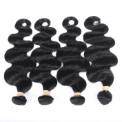 QLOVEHAIR Company Brazilian Hair Body Wave Virgin Human Hair Weft Extensions Pack of 4