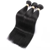 QLOVEHAIR Brazilian Virgin Straight Hair 3 bundles Virgin Human Hair Weave Natural Colour