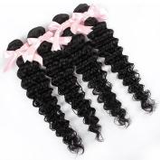 QLOVEHAIR Brazilian Deep Wave 4 Bundles Virgin Hair Wave Human Hair Mixed Length