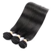 QLOVEHAIR Brazilian Virgin Straight Human Hair Extension Pack of Three