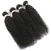 QLOVEHAIR Human Brazilian Virgin Hair Kinky Curly Hair Weave