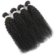 QLOVEHAIR Human Brazilian Virgin Hair Kinky Curly Hair Weave
