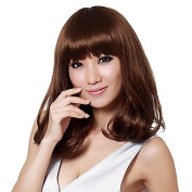 HJL-New Fashion Women'S Medium Curly Full Synthetic Synthetic Wig