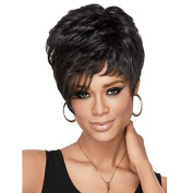 HJL-Women Short Curly Synthetic Hair Wig Black