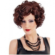 HJL-30cm Women Short Body Wave Synthetic Hair Wig Fuxia