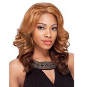 HJL-50cm Women Long Body Wave Curly Synthetic Hair Wig Ombre Brown