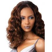 HJL-60cm Women Long Deep Wave Synthetic Hair Wig Dark Brown