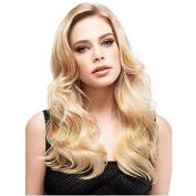 HJL-60cm Women Long Wavy Synthetic Hair Wig Blonde