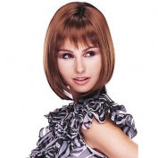 HJL-Beautiful Chestnut Brown Straight Kanekalon Women's Short Wig
