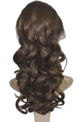 Diforbeauty Hand Curly 41cm Medium Length Drawstring Clip in/on Ponytail Synthetic Hair extensions