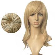Namecute Flaxen Spiral Curls Wig for Women Natural+Free Cap