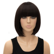 Icoser® Sexy Synthetic Hair Wigs Brown Short Korean Wig Costume Cosplay and a Wig Cap Black and a Hair Comb