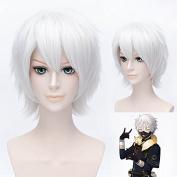 Ezcosplay® Japanese Anime Cosplay Wig Cartoon Tokyo Ghoul Ken Kaneki Synthetic Hair Short Wigs Halloween and a Wig Cap