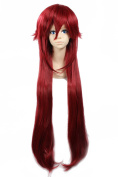 Ezcosplay® Japanese Anime Cosplay Wig Cartoon Black Butler Grell Sutcliff Synthetic Hair Long Wigs Halloween and a Wig Cap