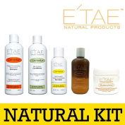 Etae Natural Products E'tae Carmelux Shampoo Conditioner Gloss Carmel Treatment Buttershine Combo Kit