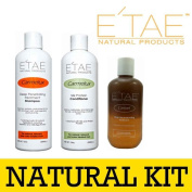 Etae Carmelux Shampoo Conditioner E'tae Carmel Treatment Natural Products Combo Kit