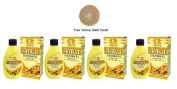 4 x Allen's Arnica Montana Hair Oil - 100ml (Pack of 4) + Free Vetiver Bath Scrub