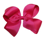 WD2U XL Classic GrosGrain Wrapped Hair Bow French Clip Magenta 2092FC