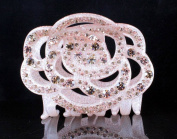 CHRYSE ROSE AUSTRIAN RHINESTONE HAIR CLAMP CLAW CLIP BARRETTE C11954 LIGHT PINK