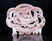 CHRYSE ROSE AUSTRIAN RHINESTONE HAIR CLAMP CLAW CLIP BARRETTE C11954 LIGHT PINK