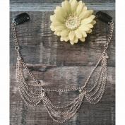Women's Clip-In Hair Jewellery- Cascading Gold Chains