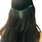 Women's Clip-In Hair Jewellery- Turquoise Drop Pendant