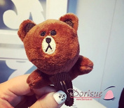 Dorisue Naver Line App Characters Brown Cony Couple plush doll Greeting Hair Clip Cute
