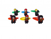 AVIRGO 6 pcs Colourful Releasable Ponytail Holder Elastic Rubber Stretchable No-slip Hair Tie Set # 354 - 7