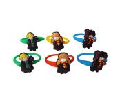 AVIRGO 6 pcs Colourful Releasable Ponytail Holder Elastic Rubber Stretchable No-slip Hair Tie Set # 254 - 7
