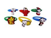 AVIRGO 6 pcs Colourful Releasable Ponytail Holder Elastic Rubber Stretchable No-slip Hair Tie Set # 198 - 7