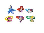 AVIRGO 6 pcs Colourful Releasable Ponytail Holder Elastic Rubber Stretchable No-slip Hair Tie Set # 115 - 7