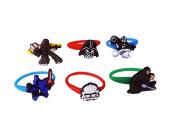 AVIRGO 6 pcs Colourful Releasable Ponytail Holder Elastic Rubber Stretchable No-slip Hair Tie Set # 1002 - 7